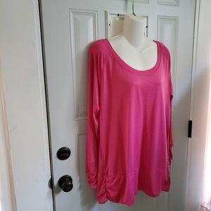 🎀CHAMPION pink tunic top 2X plus pink